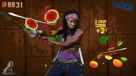 Fruit Ninja Michonne The Walking Dead