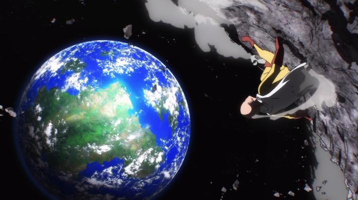 Saitama sur la lune
