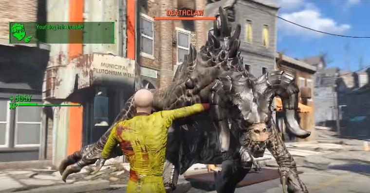 Voici l'image d'un fan aillant créé un Saitama pour sa partie de Fallout