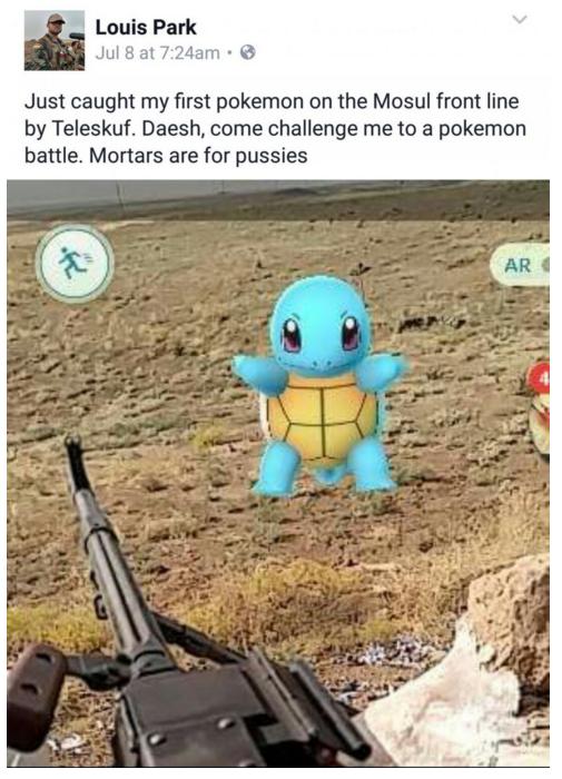 Pokemon go militaire